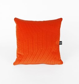 Coussin Quilted Velvet Orange