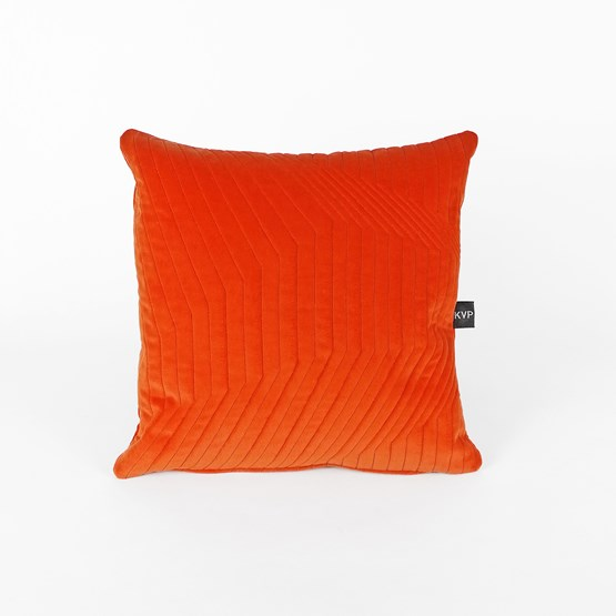 Coussin Quilted Velvet Orange - Design : KVP - Textile Design