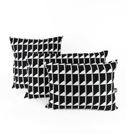 Jacquard Shadow Volume B&W Cushion