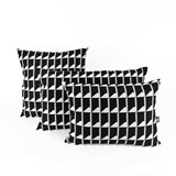 Coussin Jacquard Shadow Volume B&W 2