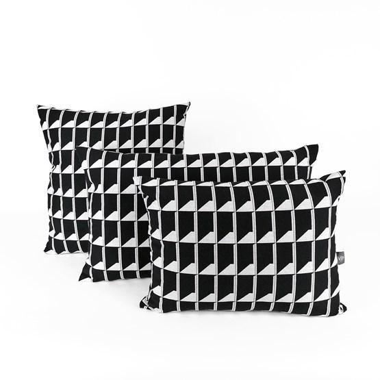 Jacquard Shadow Volume B&W Cushion - Design : KVP - Textile Design