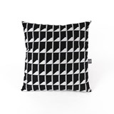 Coussin Jacquard Shadow Volume B&W 3