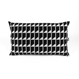 Coussin Jacquard Shadow Volume B&W 7