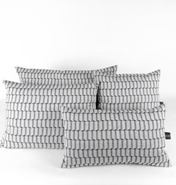 Jacquard Block Cushion