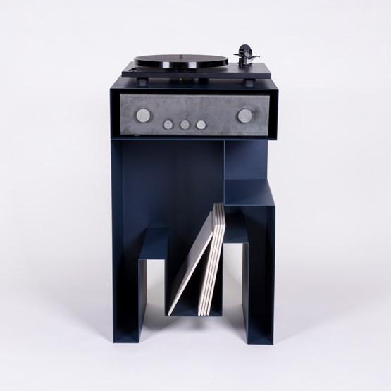 Turntable - JEUSTENE - Blue  - Design : Gaëlle Pinel Studio