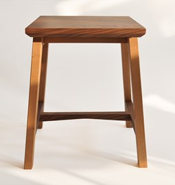 6 Degrees stool - cherry and walnut