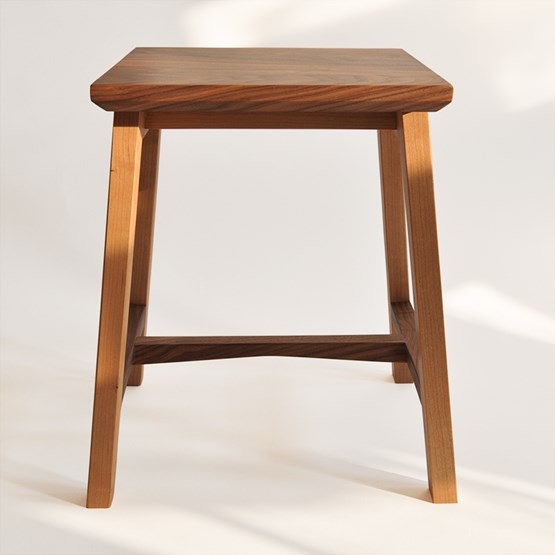 6 Degrees stool - cherry and walnut - Design : Beuzeval Furniture