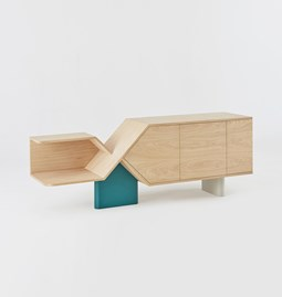 CHROMOSOME sideboard - Solid beech legs