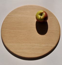 Round serving boards - oak