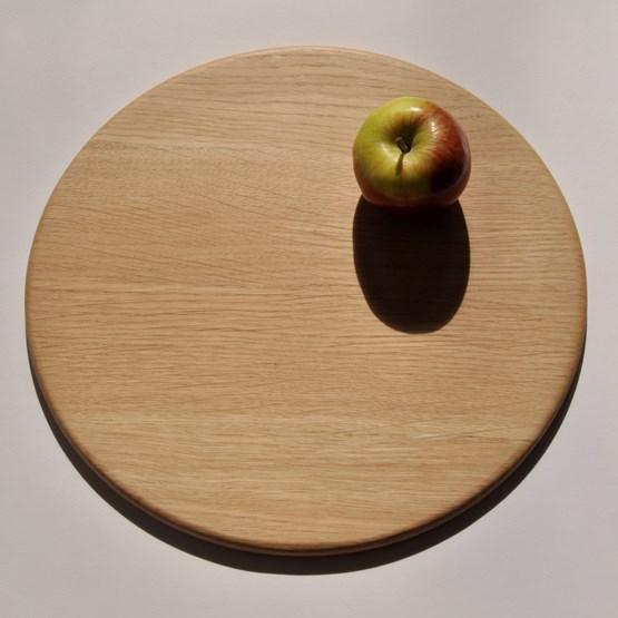 Round serving boards - oak - Design : Beuzeval Furniture
