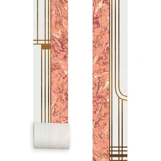 Papier Peint Mini Lé - Corail - Design : Aurélia Paoli