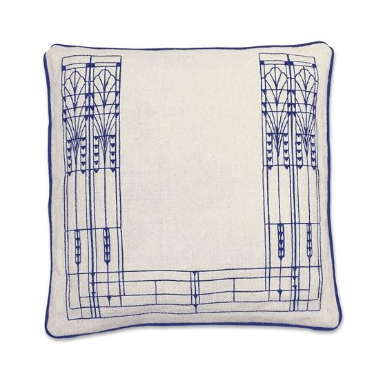 Housse de coussin Vitrail - bleu  - Design : Coco Brun