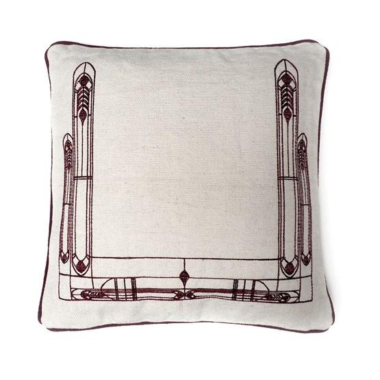 Housse de coussin Vitrail - brun - Design : Coco Brun