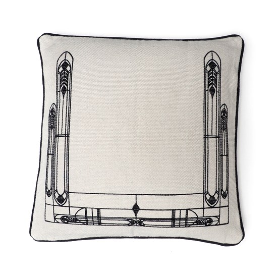 Cushion Vitrail - black - Design : Coco Brun