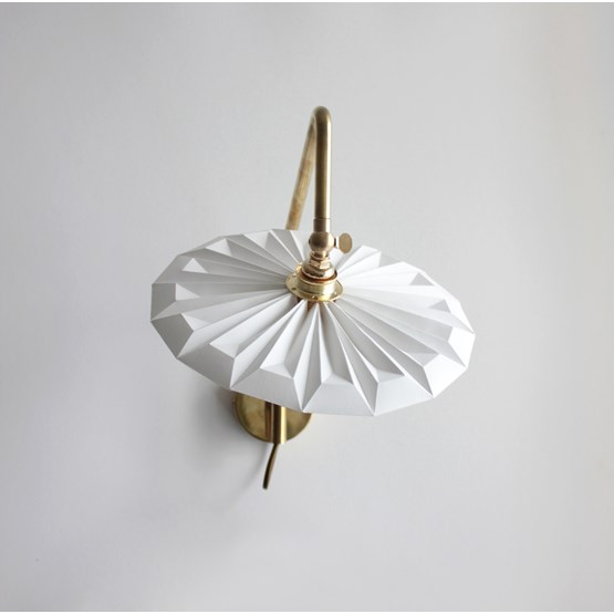 Wall lamp Pliéa - white - Design : Anne-Charlotte Saliba