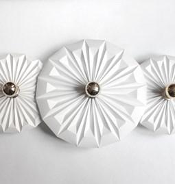 Applique trois Piléas - blanche