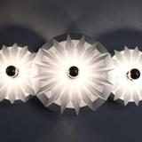 Wall lamp Three piléas - white 3