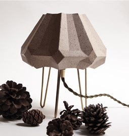 Lampe tripode - cacao