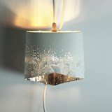 Scaled portable lamp - white & gold 5