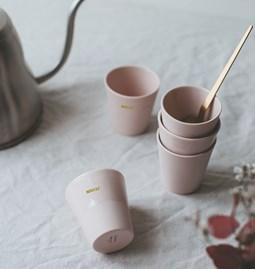 "Espresso cup ""LOVE"" - powder pink"