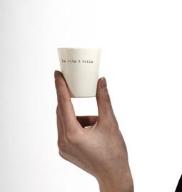 Cup LA VITA E BELLA Porcelain - white