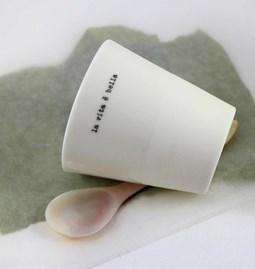 """Espresso cup """"LA VITA E BELLA"""" - off-white"""