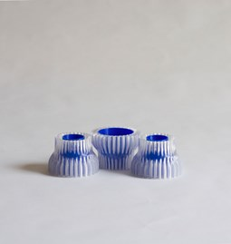 Double candle holders 2.20 - blue