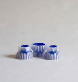 Double bougeoirs 2.20 - bleu