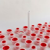Double candle holders 2.20 - red  4
