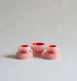 Double candle holders 2.20 - red