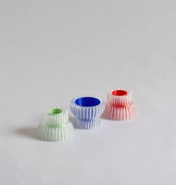 Double candle holders 2.20 - green, blue & red
