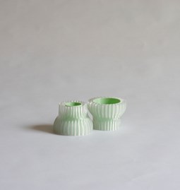 Double candle holders 2.20 - green