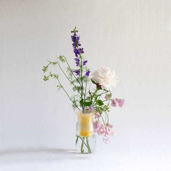 Half vase mimo - model 2 - yellow - Design : Warren & Laetitia