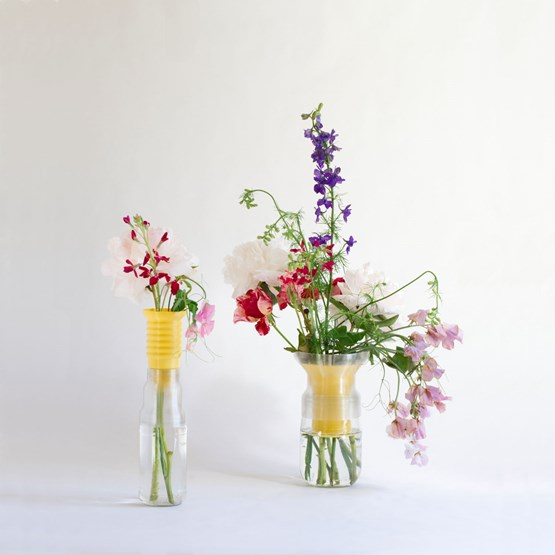 Demi-vase mimo - modèle 1+2  - jaune  - Design : Warren & Laetitia