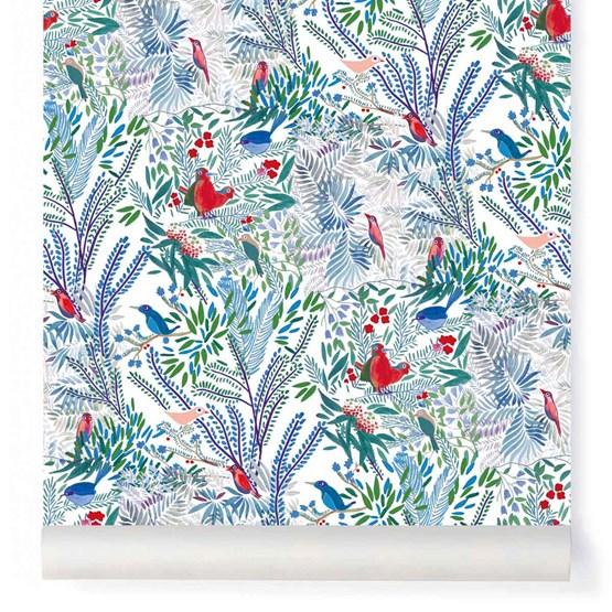 Wallpaper Jazz - blue - Design : Little Cabari