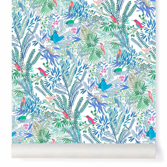 Papier-peint Jazz - rose - Design : Little Cabari