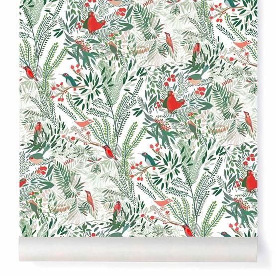 Wallpaper Jazz - coral - Design : Little Cabari