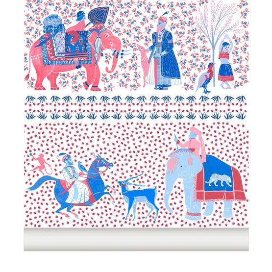 Wallpaper Chalana - ruby - Design : Little Cabari