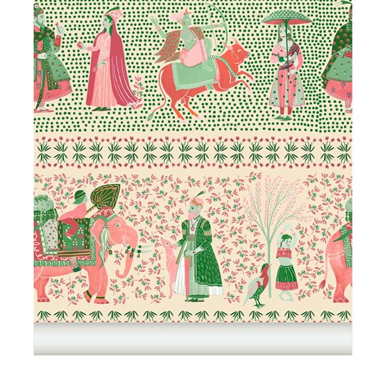 Wallpaper Chalana - topaz - Design : Little Cabari