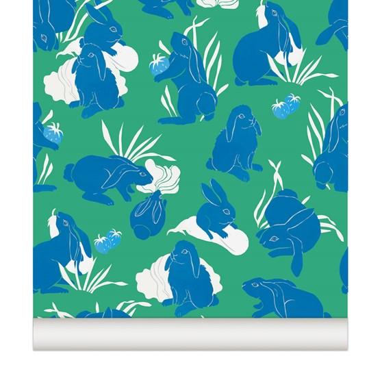 Wallpaper Haru - mint - Design : Little Cabari