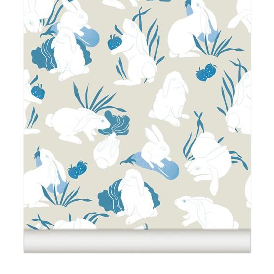Wallpaper Haru - blueberry - Design : Little Cabari