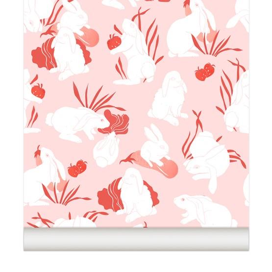 Wallpaper Haru - Strawberry - Design : Little Cabari