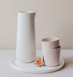 """Tea mug """"AMOUR"""" - powder pink"""
