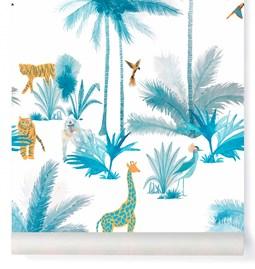 Papier-peint Grand Tamtam - Turquoise
