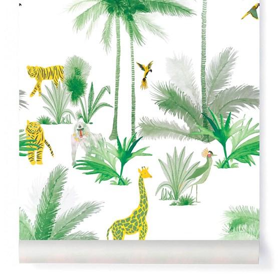 Wallpaper Grand Tamtam - minty - Design : Little Cabari