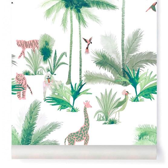 Wallpaper Grand Tamtam - Rose - Design : Little Cabari