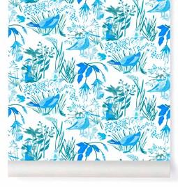 Papier-peint Lucioles - bleu