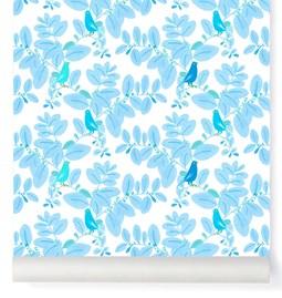 Papier-peint Songe - bleu