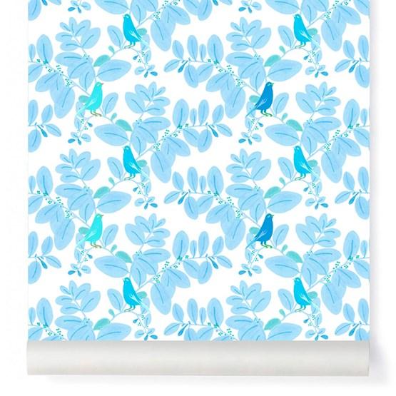 Wallpaper Songe - blue - Design : Little Cabari
