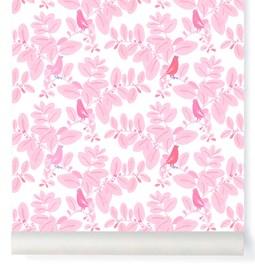 Papier-peint Songe - rose